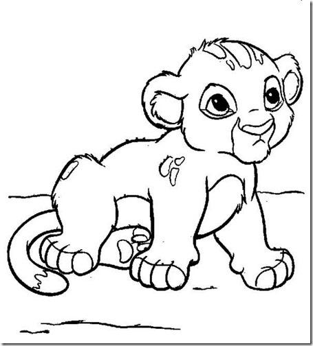 simba rrey leon colorear 5(7)