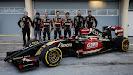 Lotus E22 Official Reveal Nick Chester, Nicolas Prost, Romain Grosjean, Pastor Maldonado, Charles Pic, Marco Sorensen & Matthew Carter