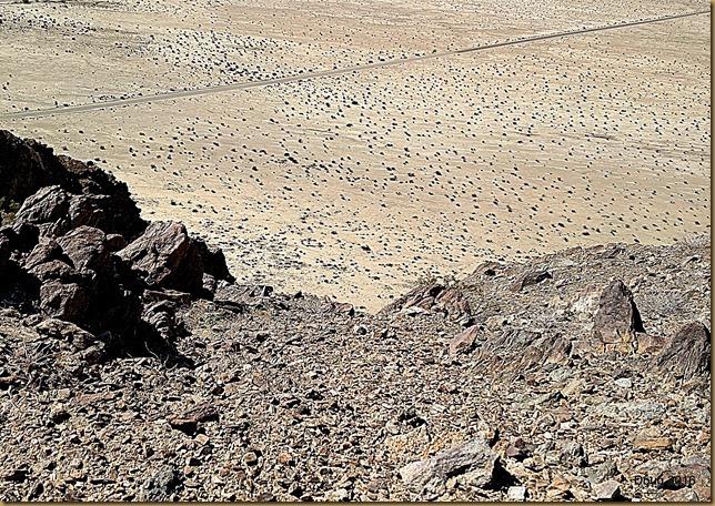 Desert floor staright down