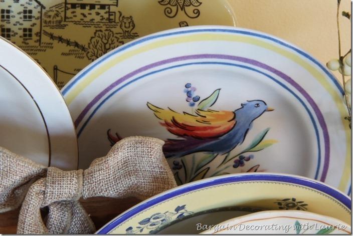 Bird Plate for Summer Decor