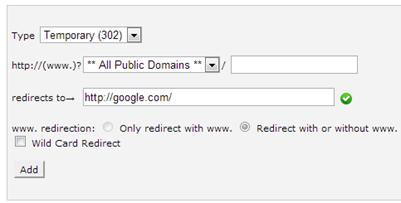 redirect seluruh domain