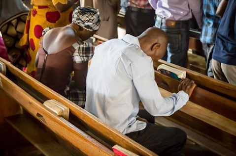 Christians in Nigeria worship at a church in this undated file photo. | Open Doors