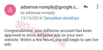 Yes, Your Adsense Account Has Been Approved By Google
