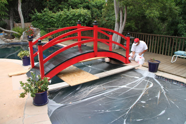 Tricky Painting over a pool!