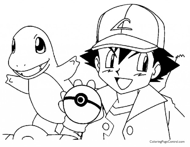 Pokemon  Ash Coloring Page   Coloring Page Central Charmander