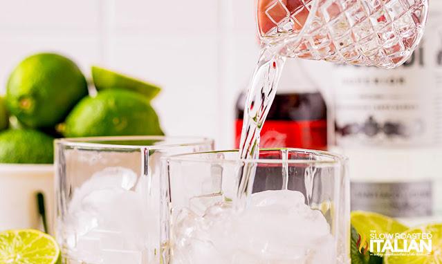 rum in a clear glass