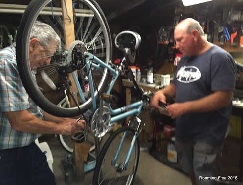 Jake working on my bike