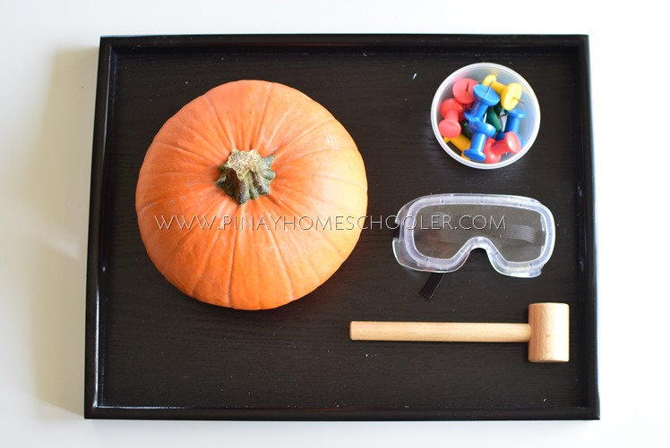 Push Pin Hammering Pumpkin