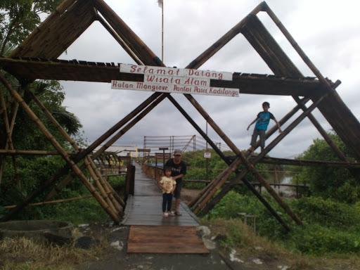 Jembatan mangrove pantai pasir kadilangu