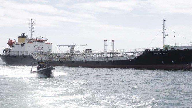TNI AL Bekuk Kapal Tanker Asing Pembawa Limbah Berbahaya di Kepri