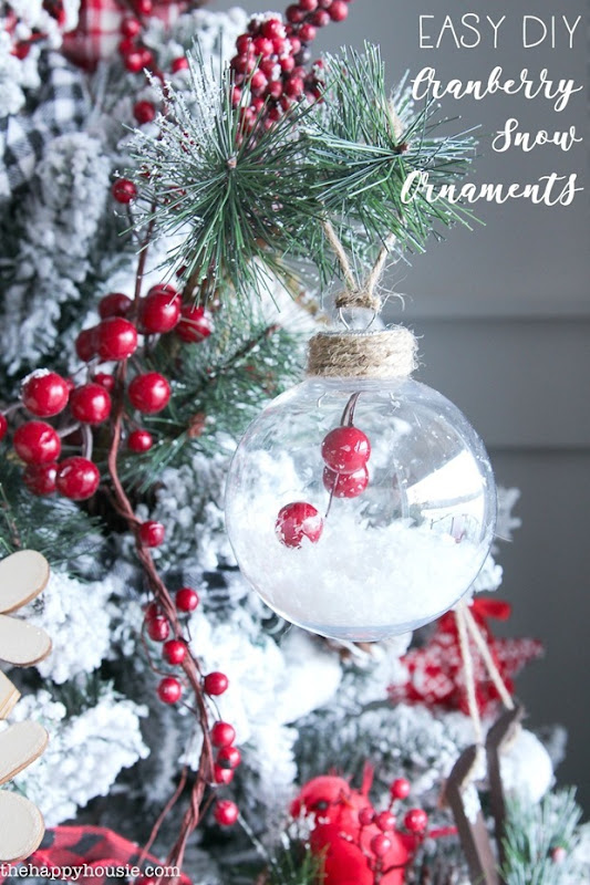 Make-these-simple-DIY-Cranberry-and-Snow-Ornaments-clear-glass-ornaments-7