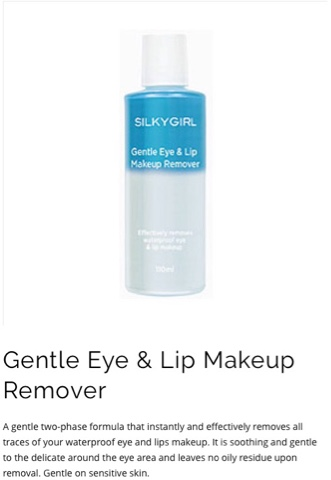 SILKYGIRL Gentle Eye & Lip Makeup Remover
