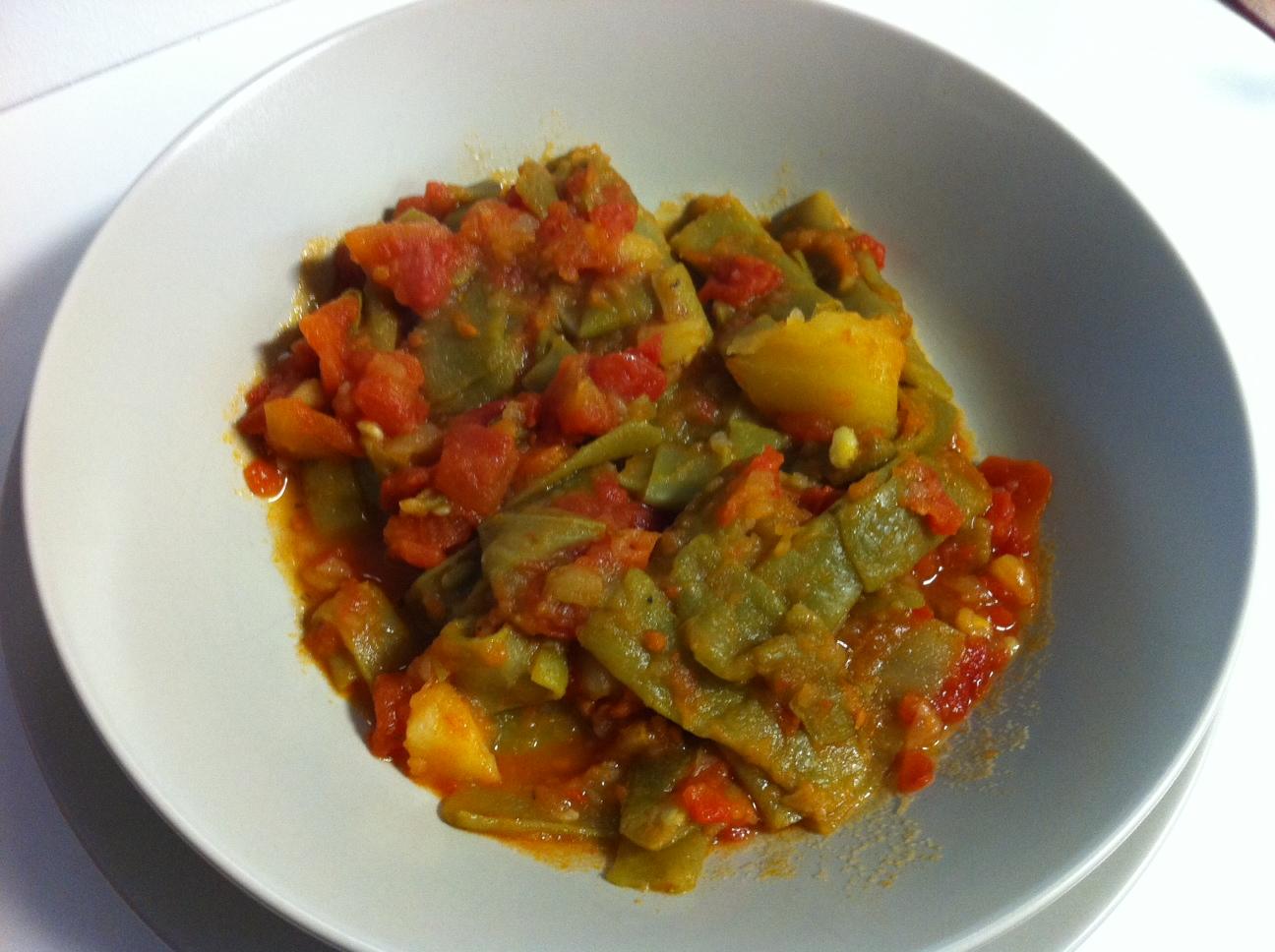 Cocina con cuatro cosas jud as verdes a la madrile a - Tiempo coccion judias verdes ...