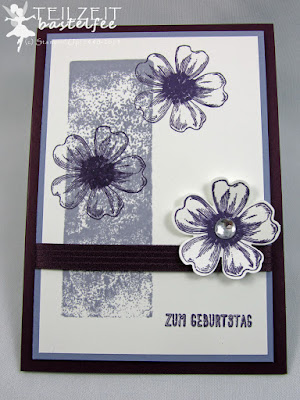 Stampin' Up! - In{k}spire_me #205, Color Challenge, Flower Shop, Geburtstag, Birthday, Purple Monochrome, Stanze Stiefmütterchen, Punch Pansy, Eins für alles, And many more