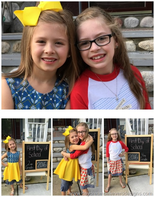 www.daydreambelieversdesigns.com First Day of School photos 2016