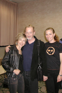 Lin Shaye and my wife Nancy at the 2001 MANIACS publicity tour.