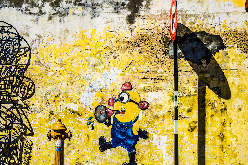 Penang George Town Street Art Minions1