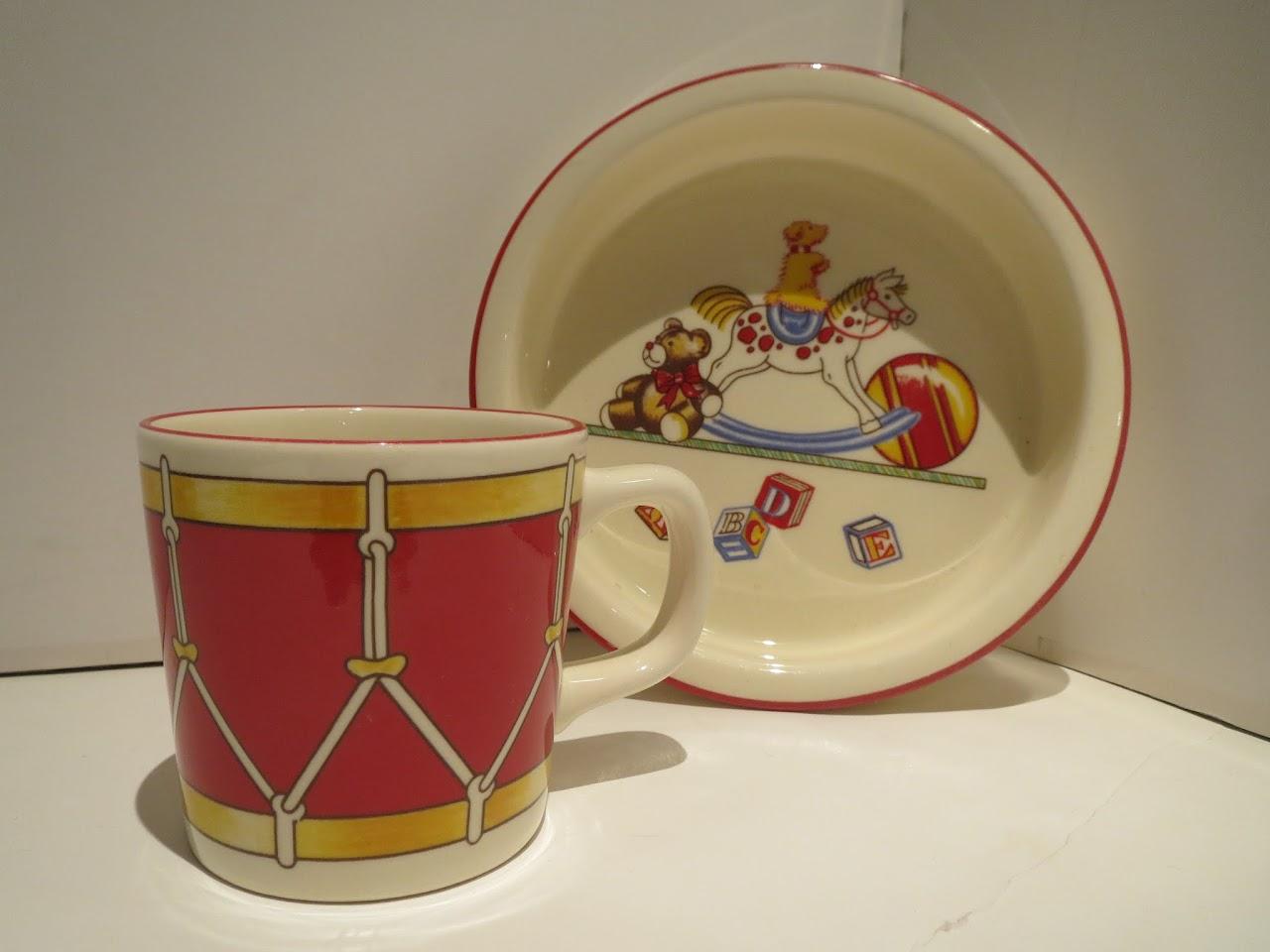 Tiffany & Co. + Mason's Ironstone  'Tiffany Toys' Mug and Dish
