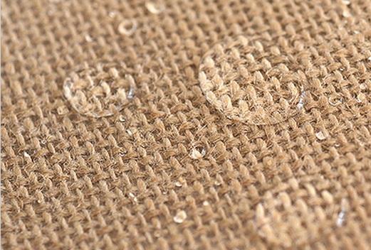 Lino puro amarillo recubierto de fibras de yute