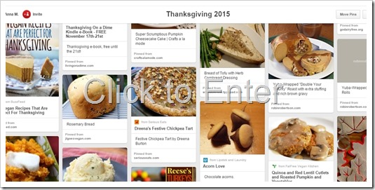 Thanksgiving on Pinterest 2015