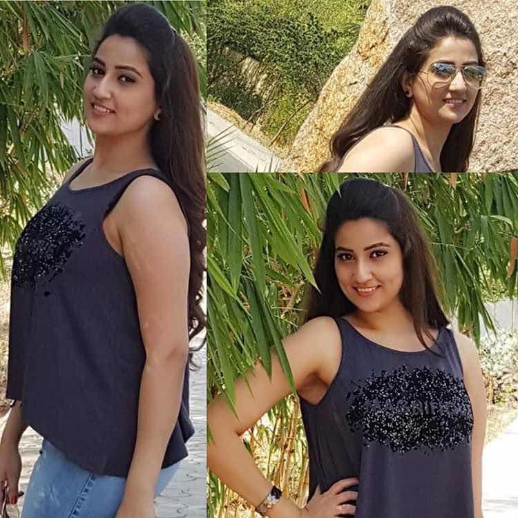 Telugu TV Anchor Manjusha Navel Show | Saree Stills Navel Queens