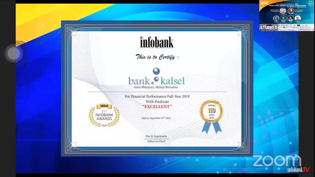 Tunjukkan Kinerja dan Layanan Terbaik, Bank Kalsel Raih Infobank Award