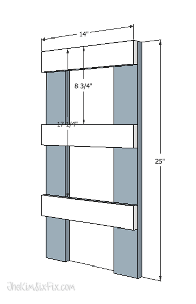 Final ladder for building shelf supports