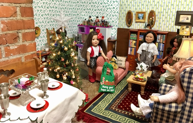 things ive found at dollar general for the dolls just have a moment here but want to get this posted before they run out of all their christmas stuff - Christmas Decorations For American Girl Dolls