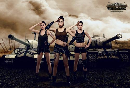Siêu mẫu Thái Hà gợi cảm trong bộ ảnh World of Tanks 2