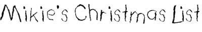 font christmas