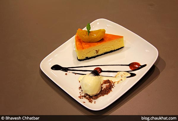 Peach Cheese Cake served at 212 All Day Cafe & Bar at Phoenix Marketcity in Pune