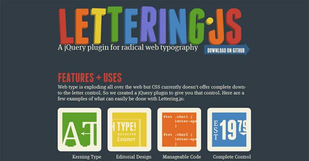 JavaScript-lettering