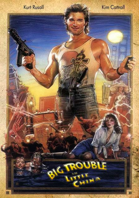 Poster Of Big Trouble in Little China (1986) Full Movie Hindi Dubbed Free Download Watch Online At Alldownloads4u.Com