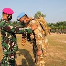 UPACARA PENUTUPAN SATGAS TNI KONTINGEN GARUDA UNIFIL DAN SATGAS TNI RDB XXXIX-B MONUSCO 2020 BATALYON INFANTERI 8 MARINIR