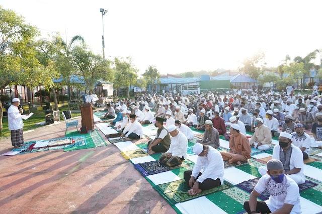 Ratusan Warga Binaan Lapas Karang Intan Ikuti Sholat Idul Adha 1442 Hijriah
