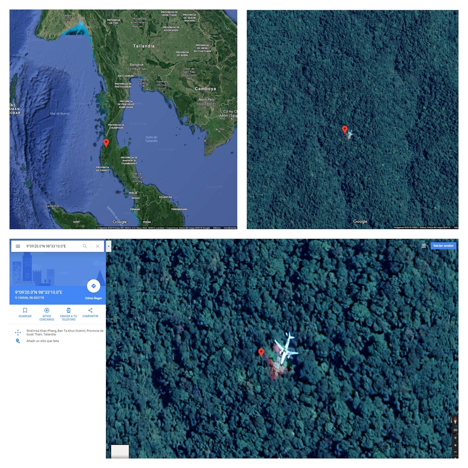 Aseguran haber encontrado al MH370 gracias a Google Maps