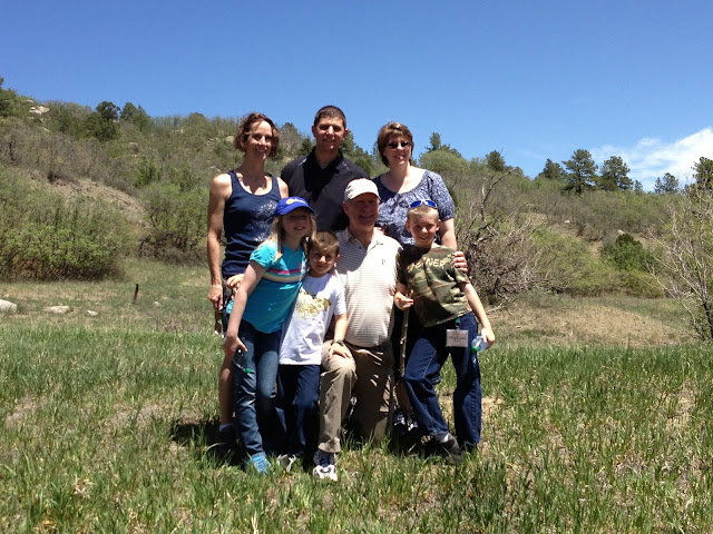 Tourney Smith family. Tourney lived on the Ranch as a child; he was one of Lloyd and Dorothy Jones grandsons. He shared wonderful mischievous stories when the Park was a working Ranch.