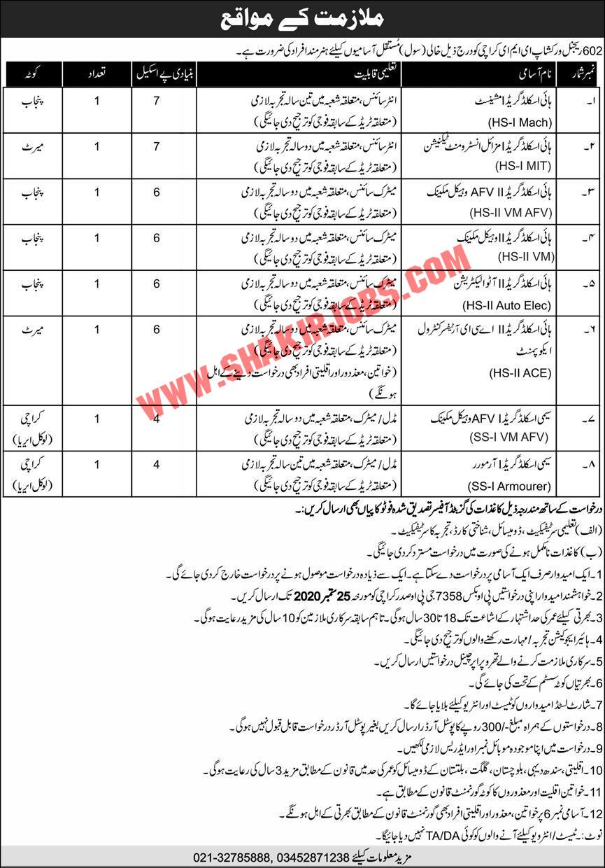 Jobs in Pak Army EME Jobs September 2020