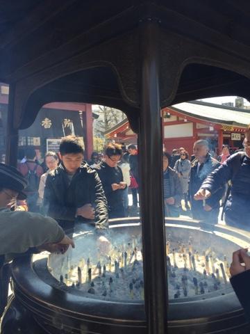 Incense at sensoji temple