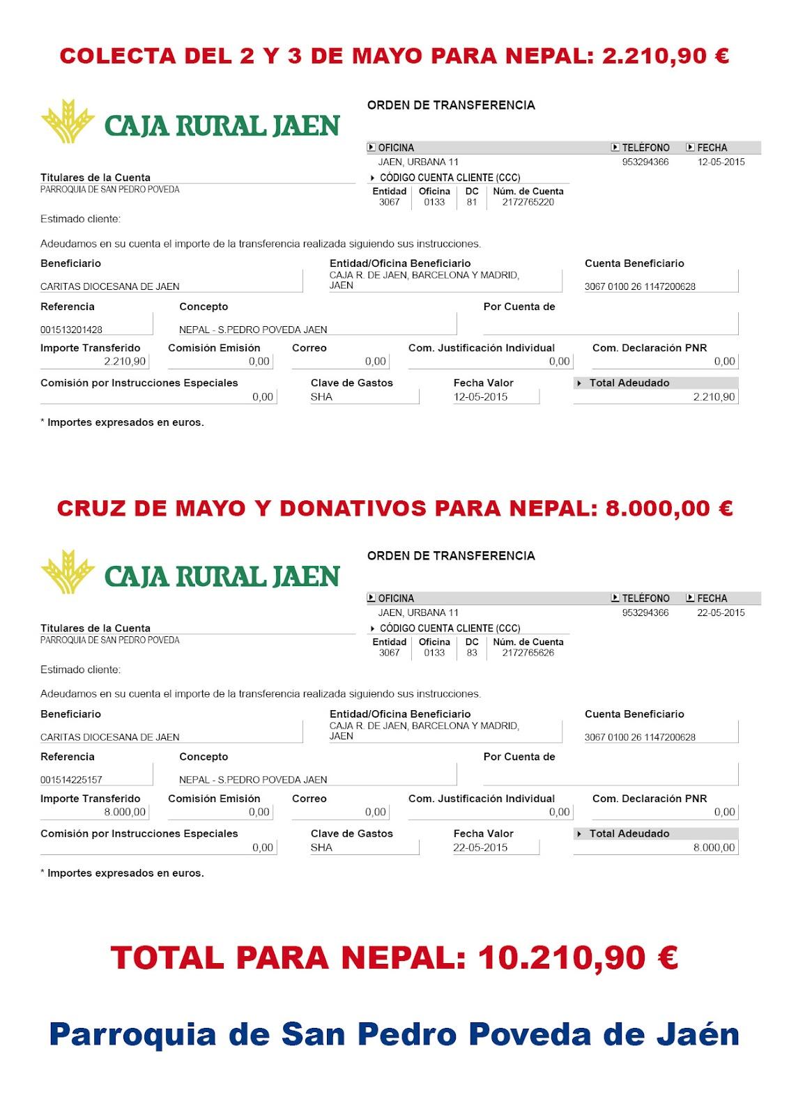 Enviados 10.210,90 € a Nepal