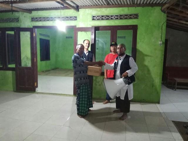Pengeras suara untuk Musholla Adz-Dzakirin dari sahabat BBM dan Wisata Hati Magelang