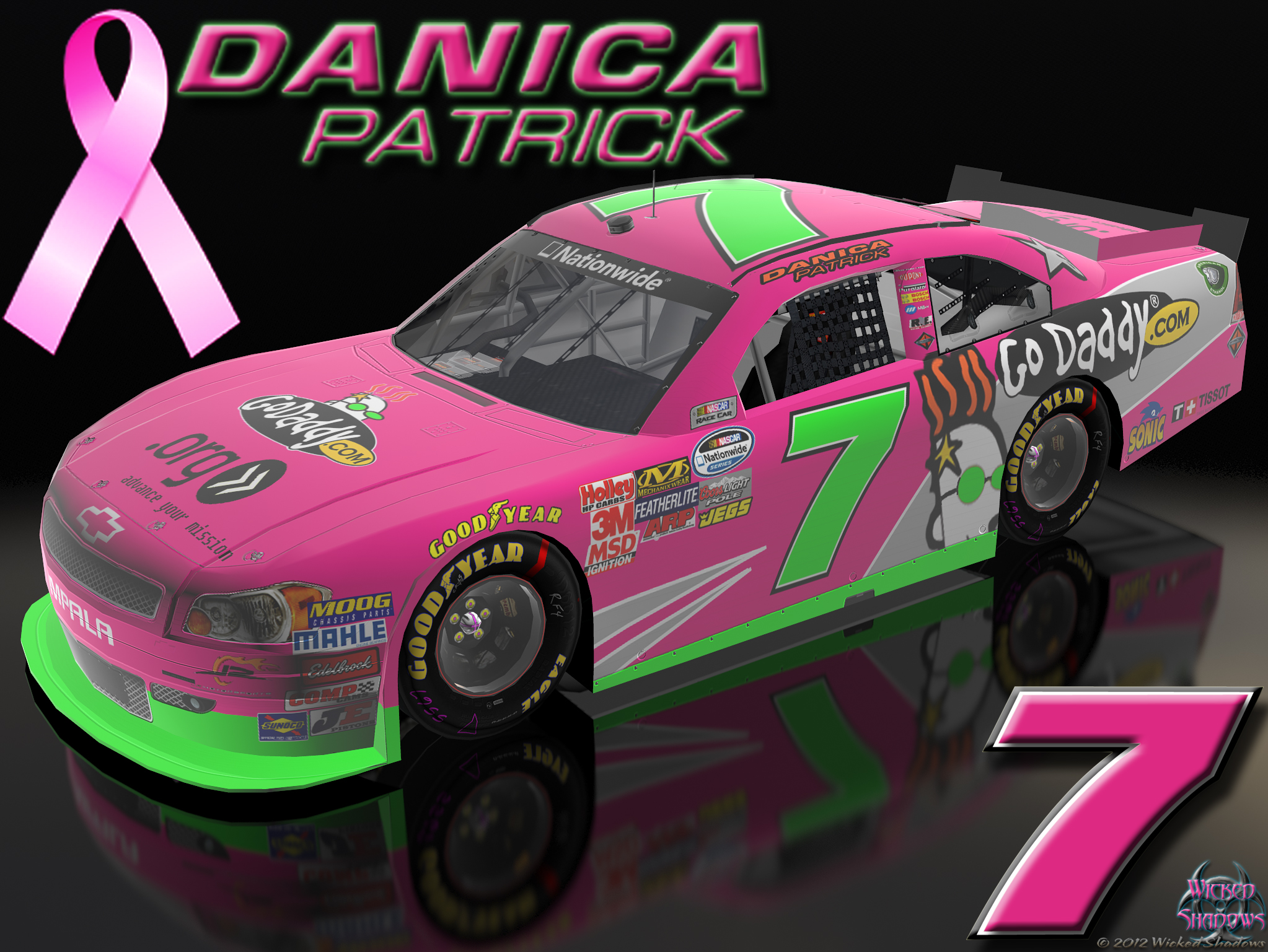 Wallpapers By Wicked Shadows Danica Patrick Dale: Danica Patrick Go Daddy Car
