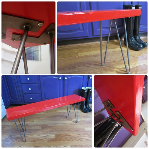 hairpin leg bench