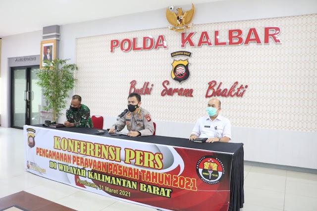 Polda Kalbar Terjunkan 1300 Personel Dan Kendaraan Taktis Dalam Pengamanan Jelang Perayaan Paskah