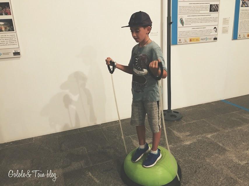 Exposición temporal de Deporte en la Casa de las Ciencias de Logroño