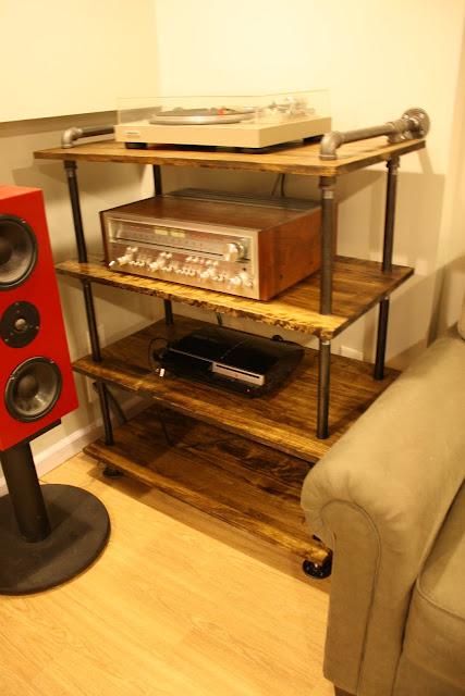 Diy Gear Rack Black Steel Pipe Audiokarma Home Audio