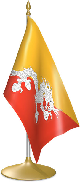 Bhutanese table flags - desk flags
