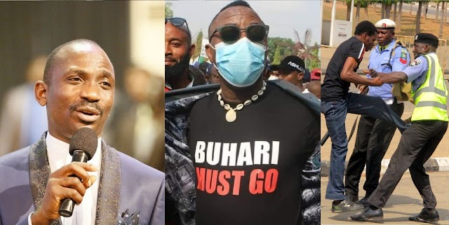 Activists Arrested & Beaten At Dunamis Church For Wearing Buhari Must Go Shirts