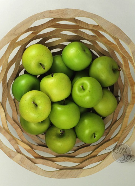 Apples in scroll saw basket