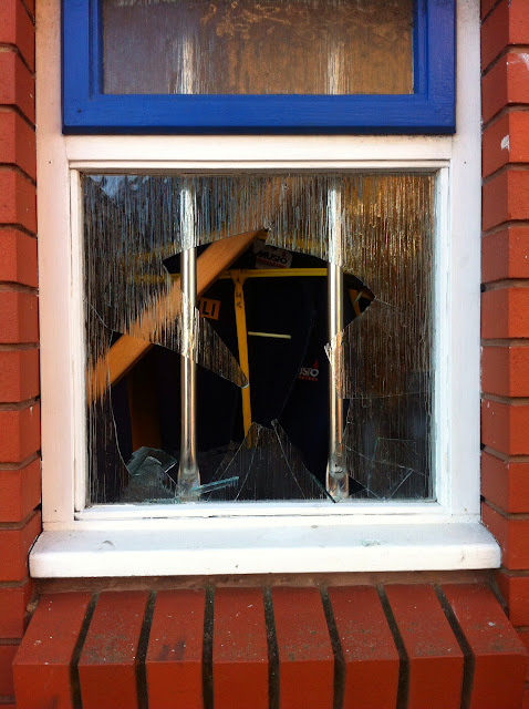 Volunteer crew arrived at the station this morning to find that someone had thrown an object through one of the downstairs windows - 6 December 2014.